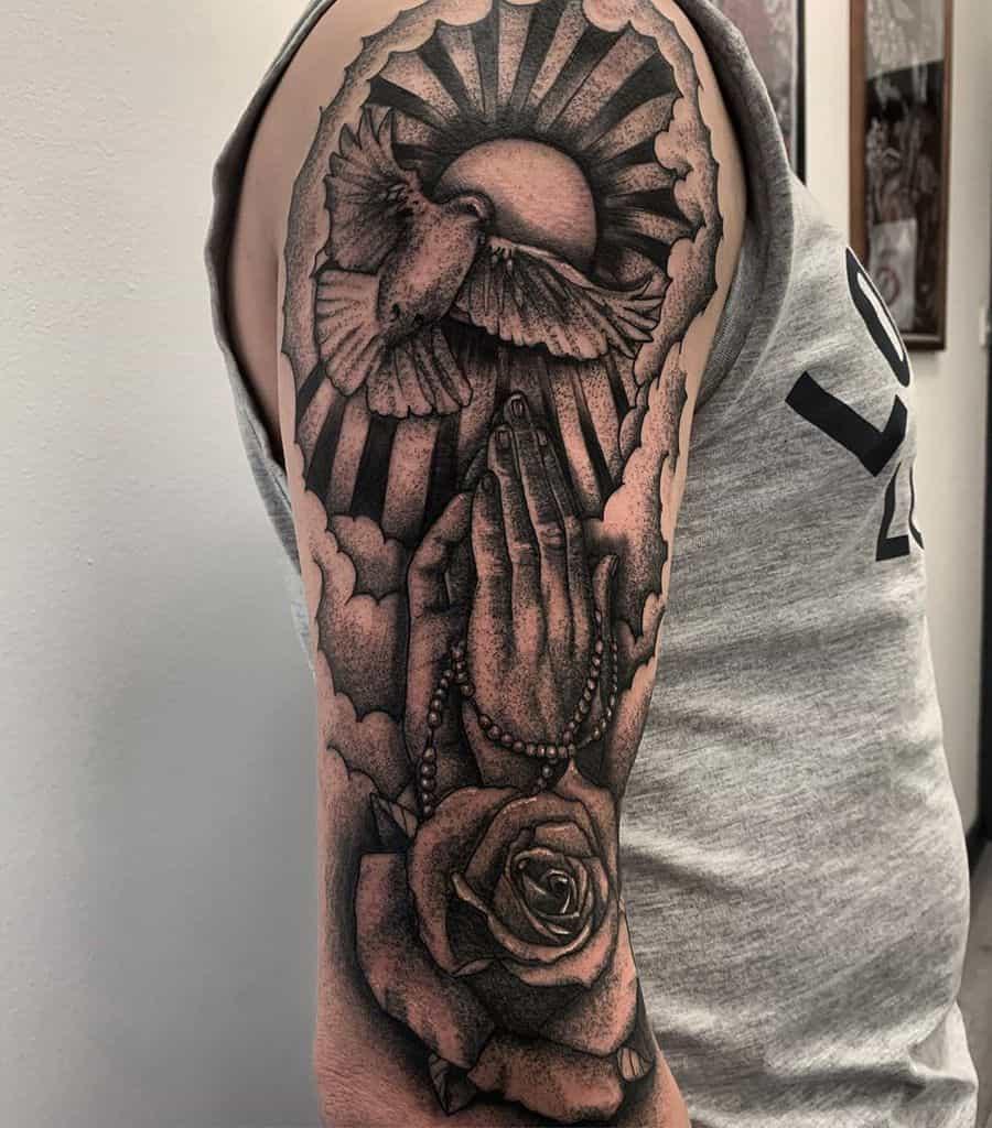Religious Tattoo Sleeve Filler elysium_ink