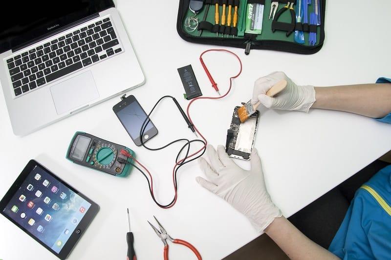 Repair mobile phones or computers.
