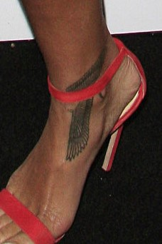 Rihanna Egyptian Falcon Tattoo Right Foot