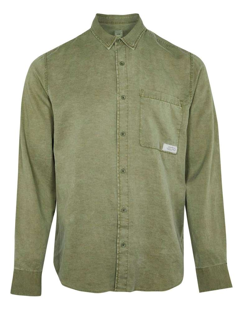 River Island Solid Button Up Shirt