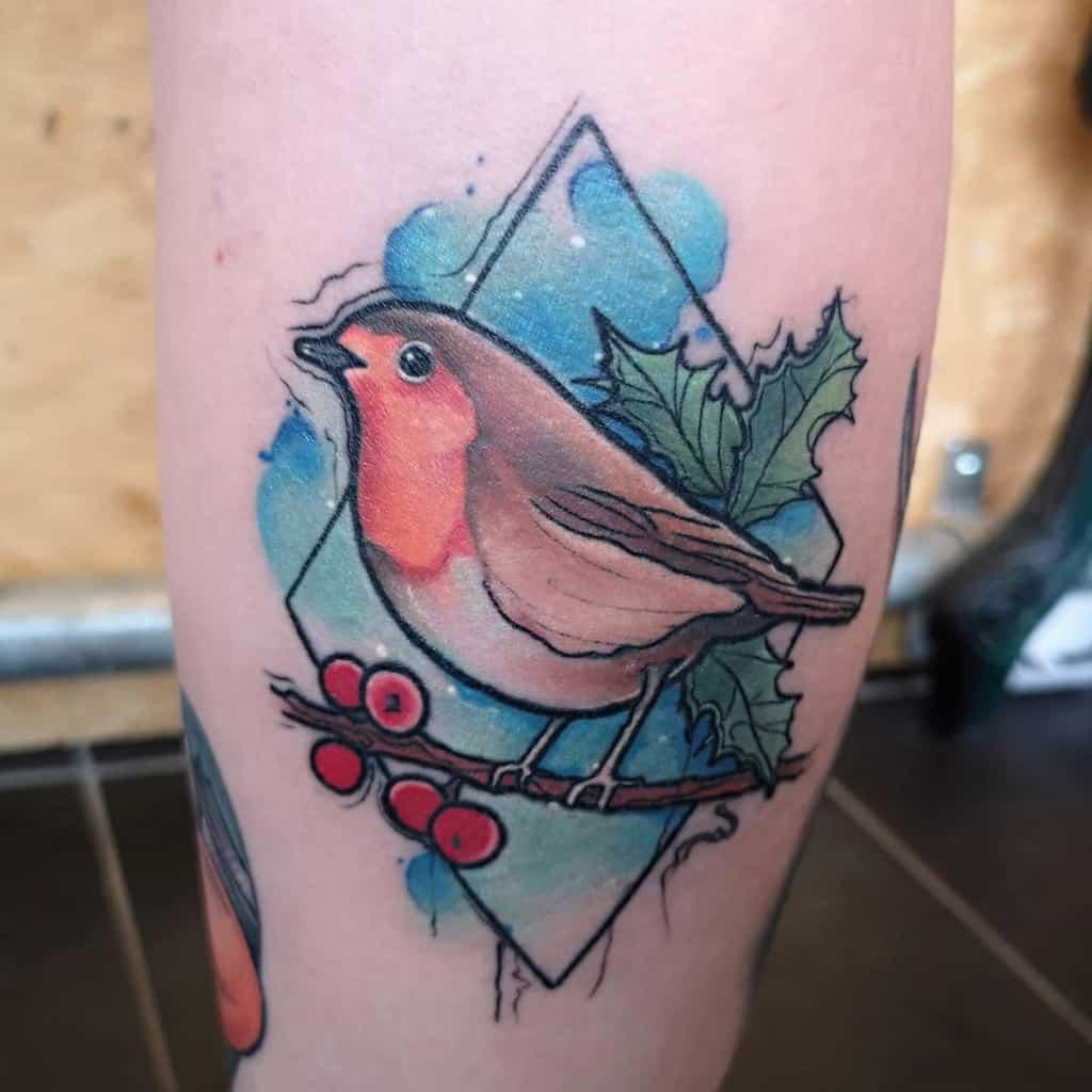 Robin Watercolor Tattoo Holliemaytattooist 2