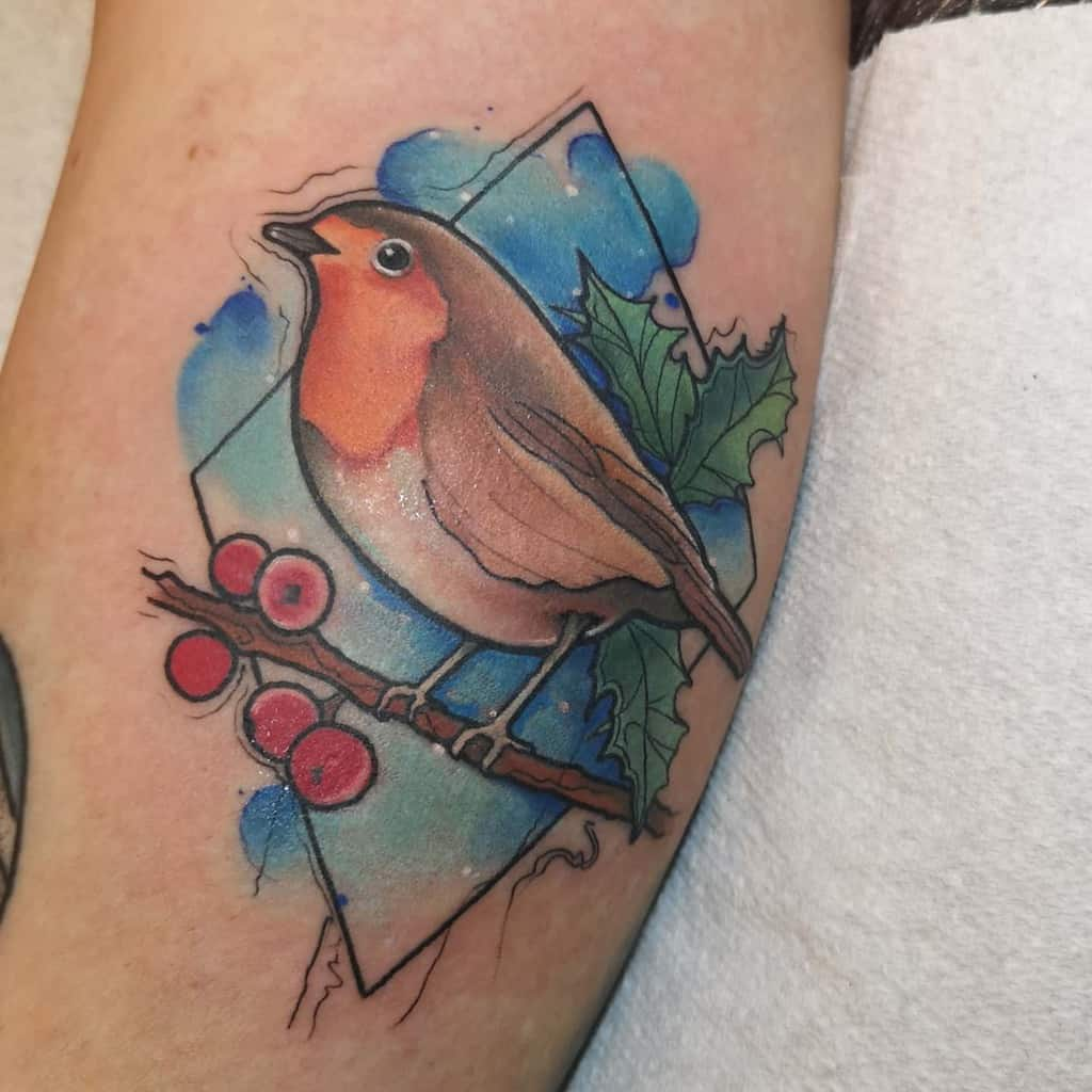Robin Watercolor Tattoo Holliemaytattooist