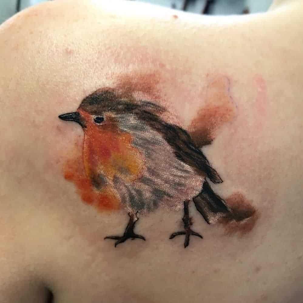 Robin Watercolor Tattoo Jessbrotherton73