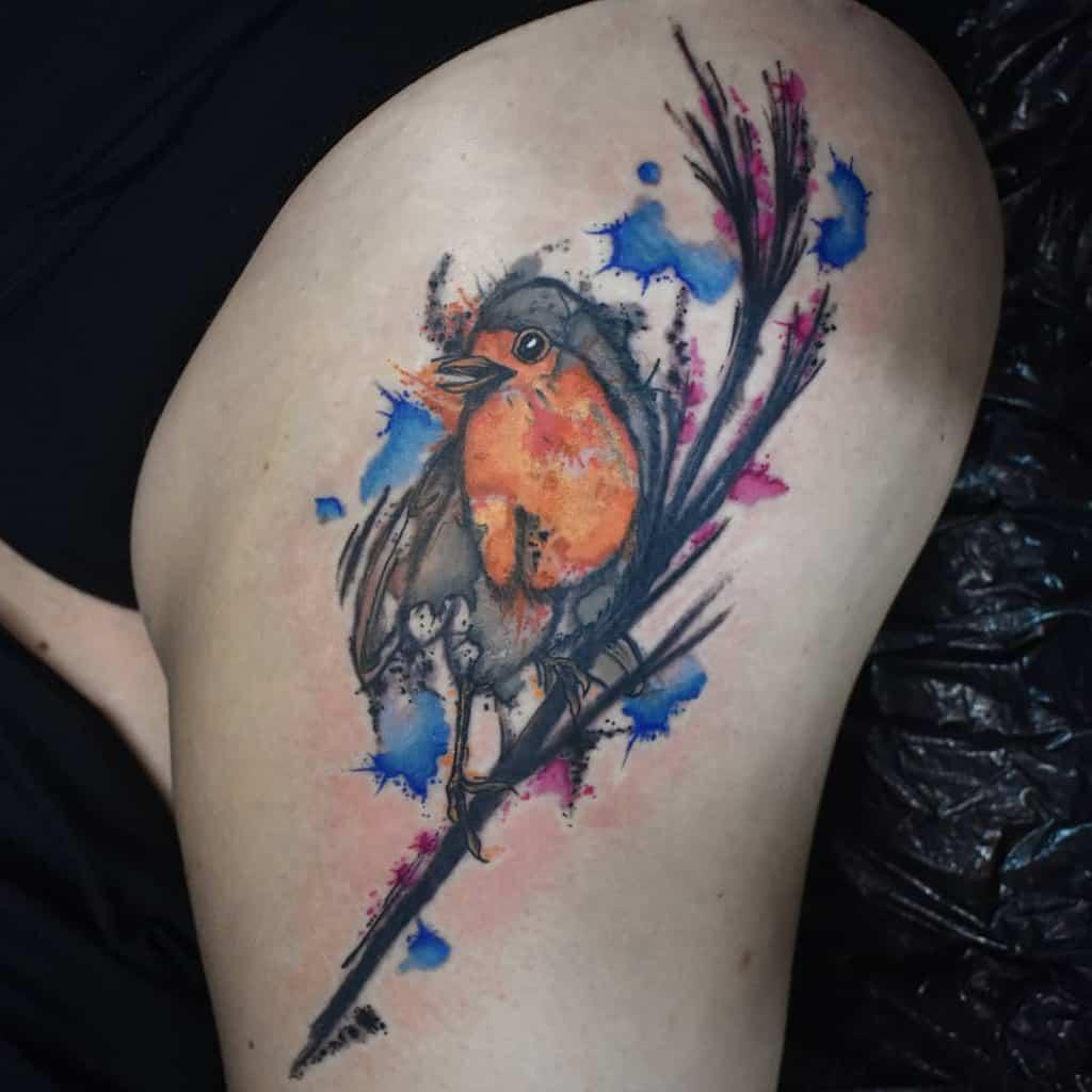 Robin Watercolor Tattoo Rusty.shackle
