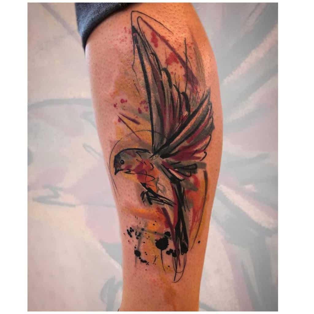 Robin Watercolor Tattoo Tribaltrading