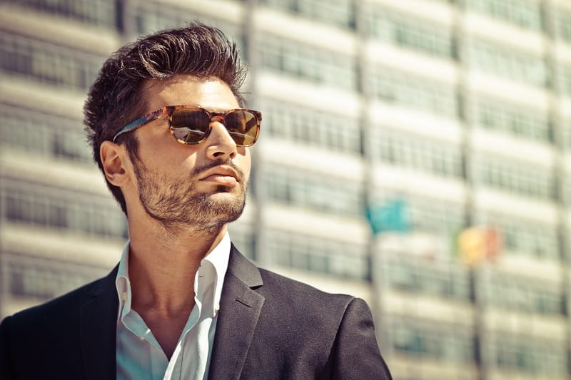 Handsome,Businessman,With,Sunglasses,,Outdoor,In,The,City.,Charming,And