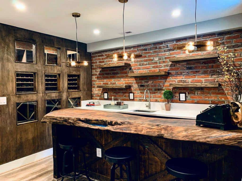 Rustic Basement Bar Ideas ash360