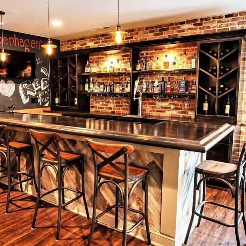 Rustic Basement Bar Ideas elenatheobald