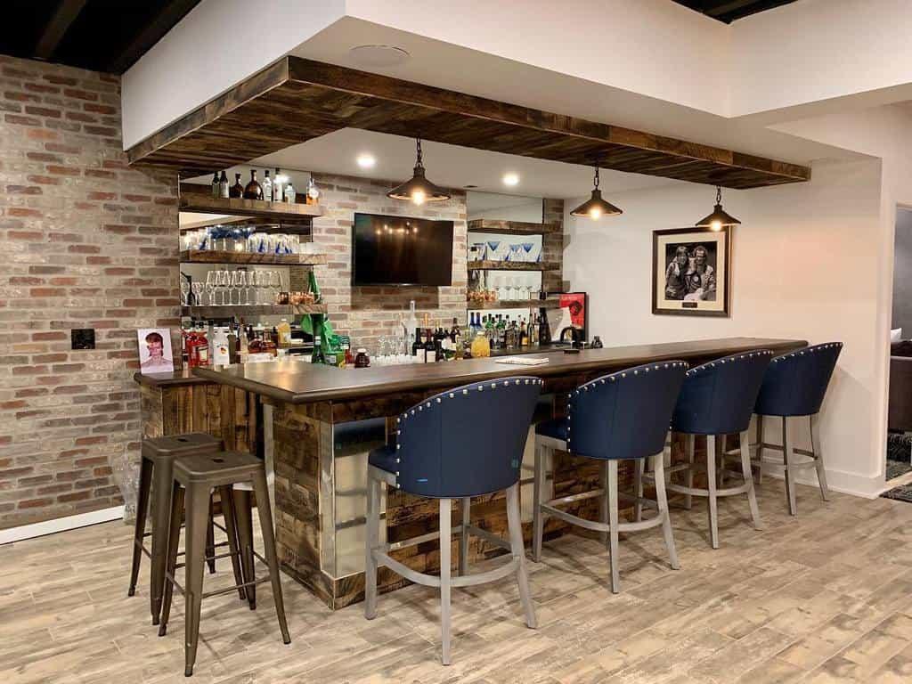 Rustic Basement Bar Ideas finishedbasementnj