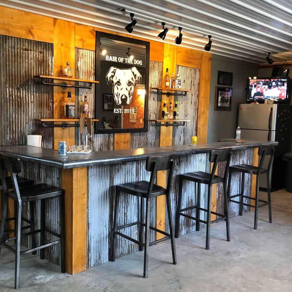 Rustic Basement Bar Ideas zcounterform