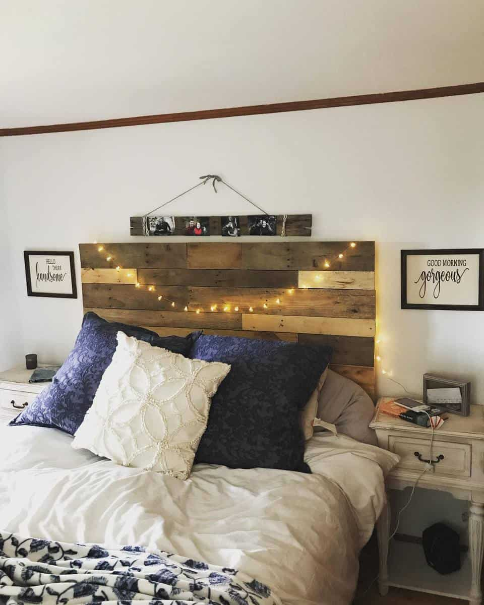 Rustic DIY Headboard Ideas -lyss_customcrafts