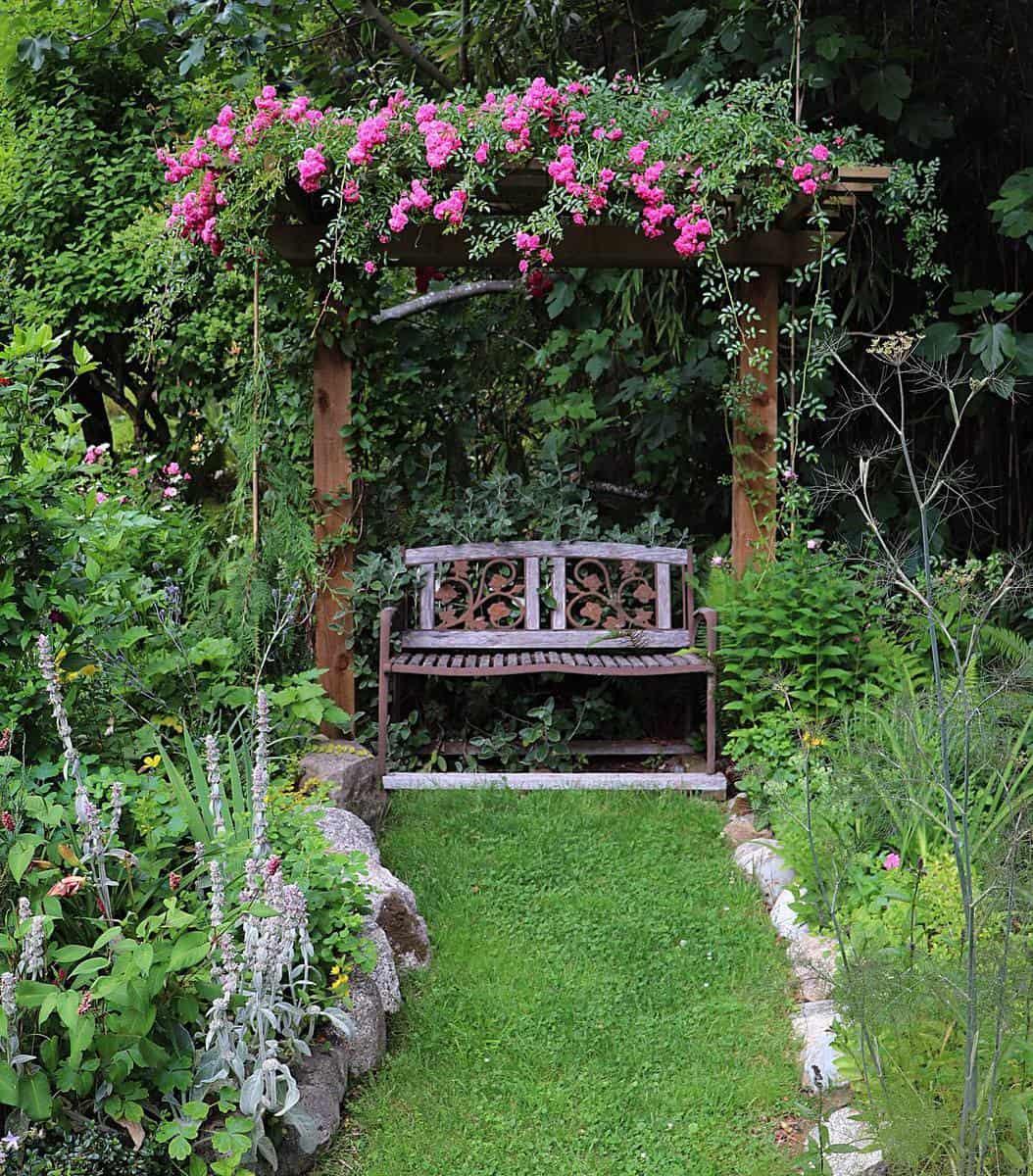Rustic Garden Bench Ideas -fiachras.glebe