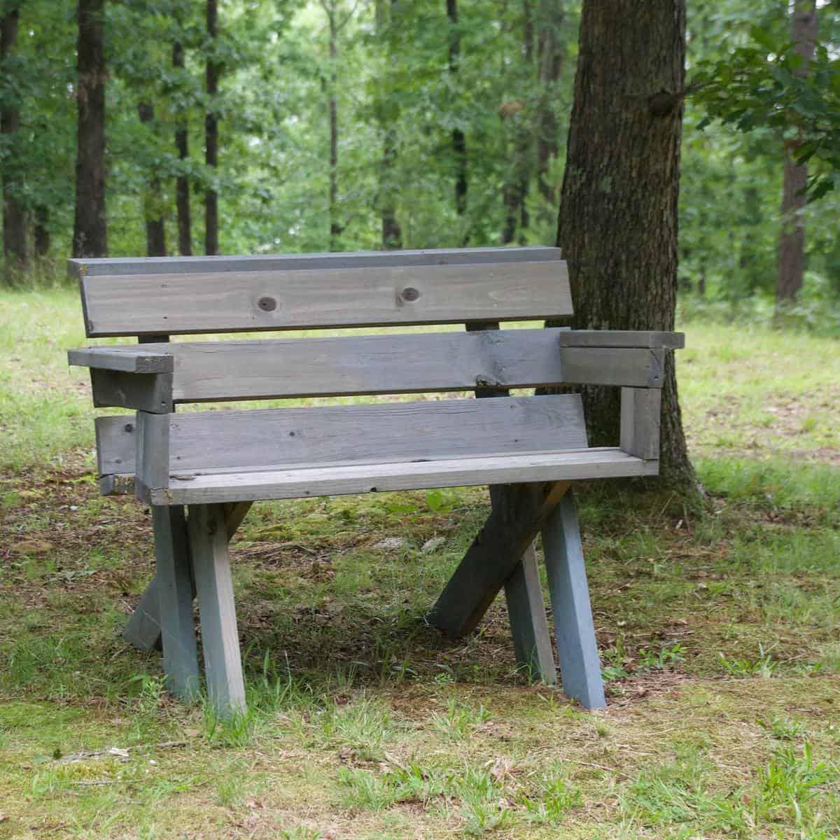 Rustic Garden Bench Ideas -homeveneer