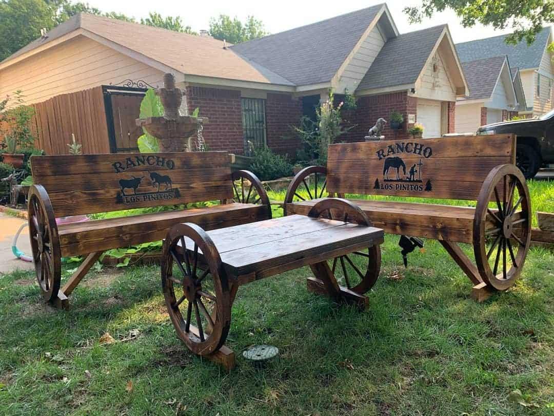 Rustic Garden Bench Ideas -official_farmhouse_furniture