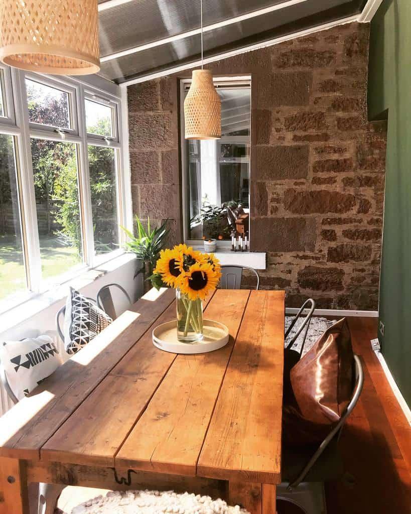 Rustic Sunroom Furniture Ideas littleedzellcottage