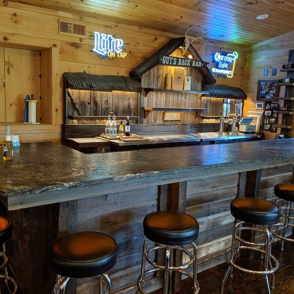 Rustic Wet Bar Ideas bnaylorstudios