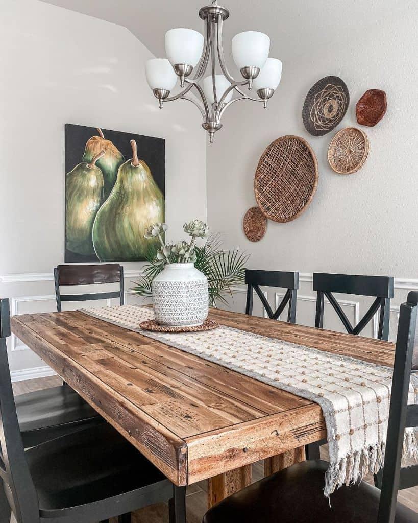 Rustic dining room lighting ideas deco_azul_handmade