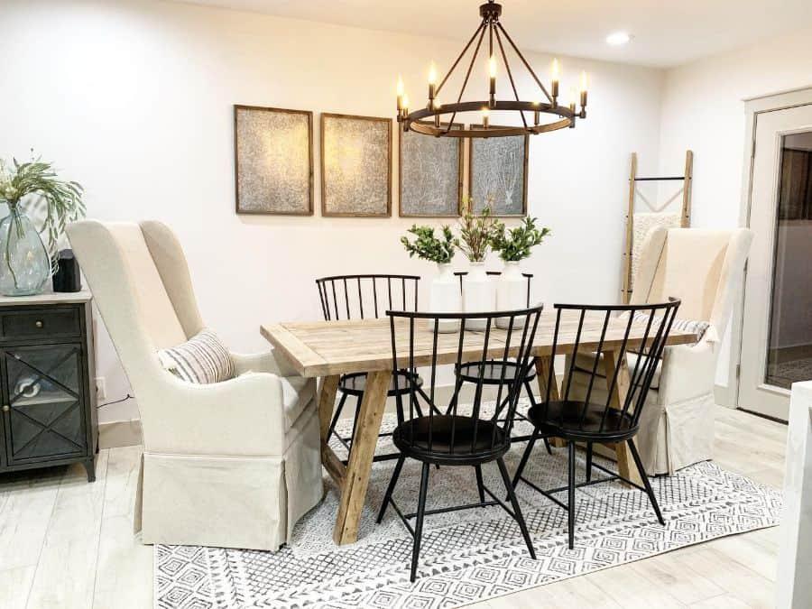 Rustic dining room lighting ideas krafted_renovations