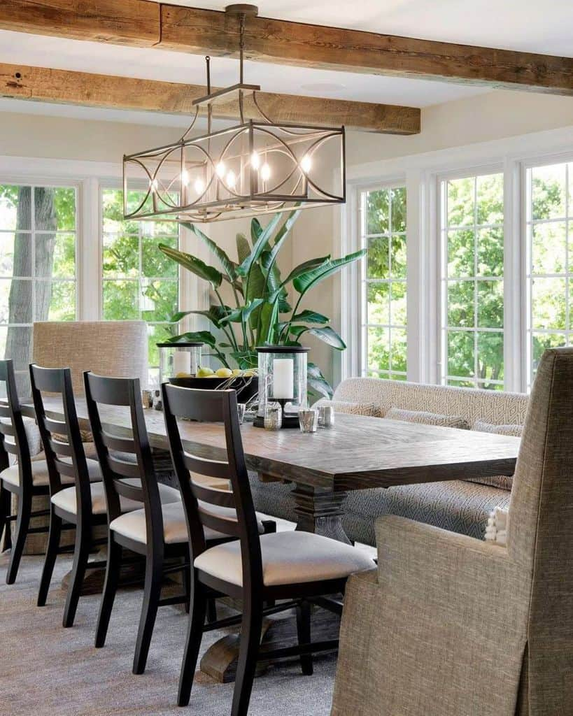The Top 116 Dining Room Lighting Ideas, Rustic Dining Room Lighting