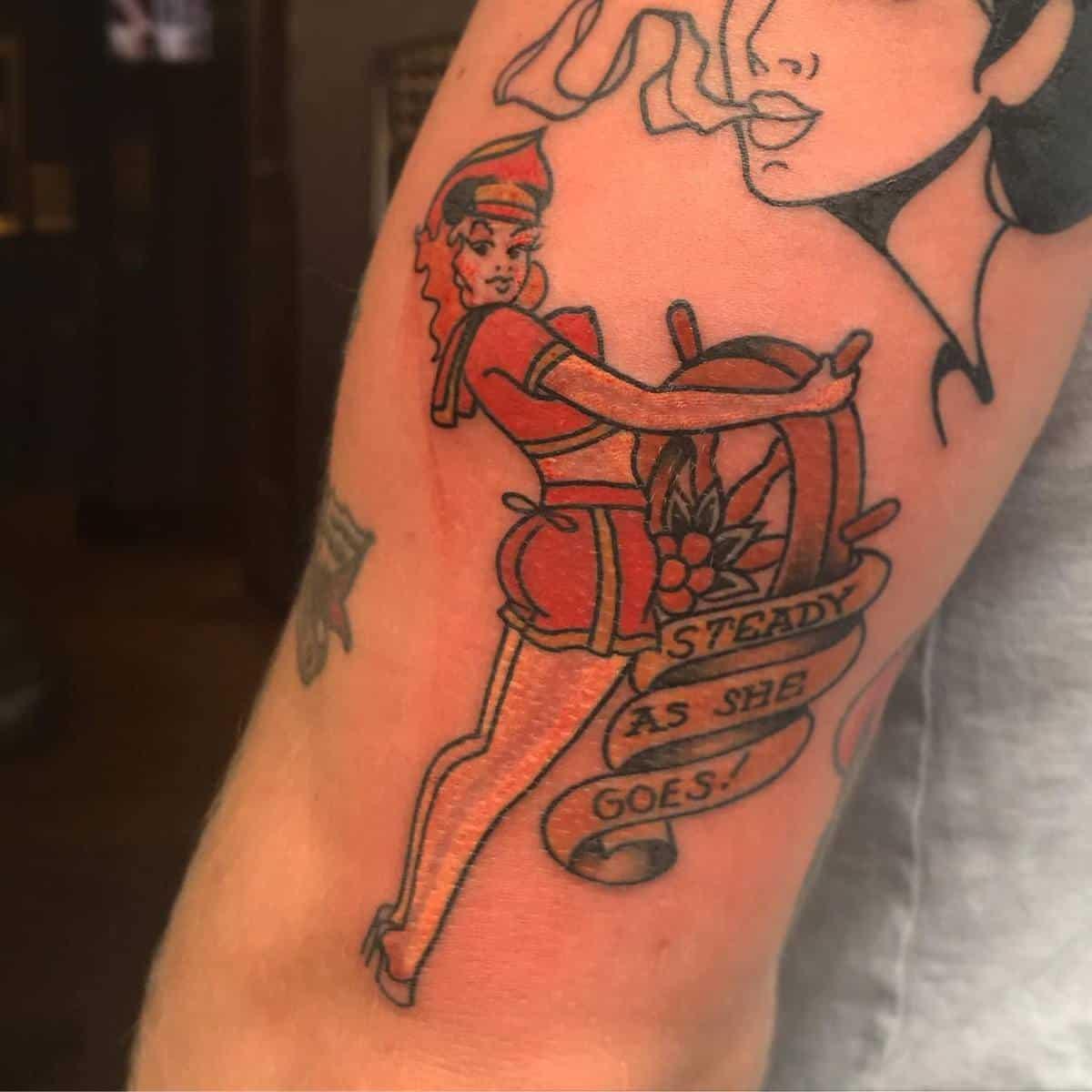 Sailor Jerry Pin Up Girl Tattoo -beautifulsintattoo