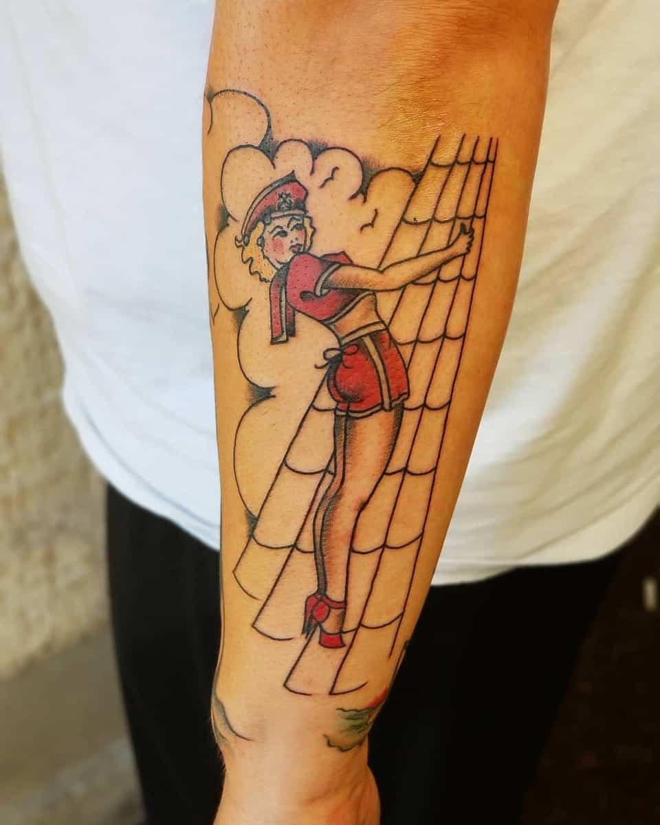 Sailor Jerry Pin Up Girl Tattoo -ogruiztattooer