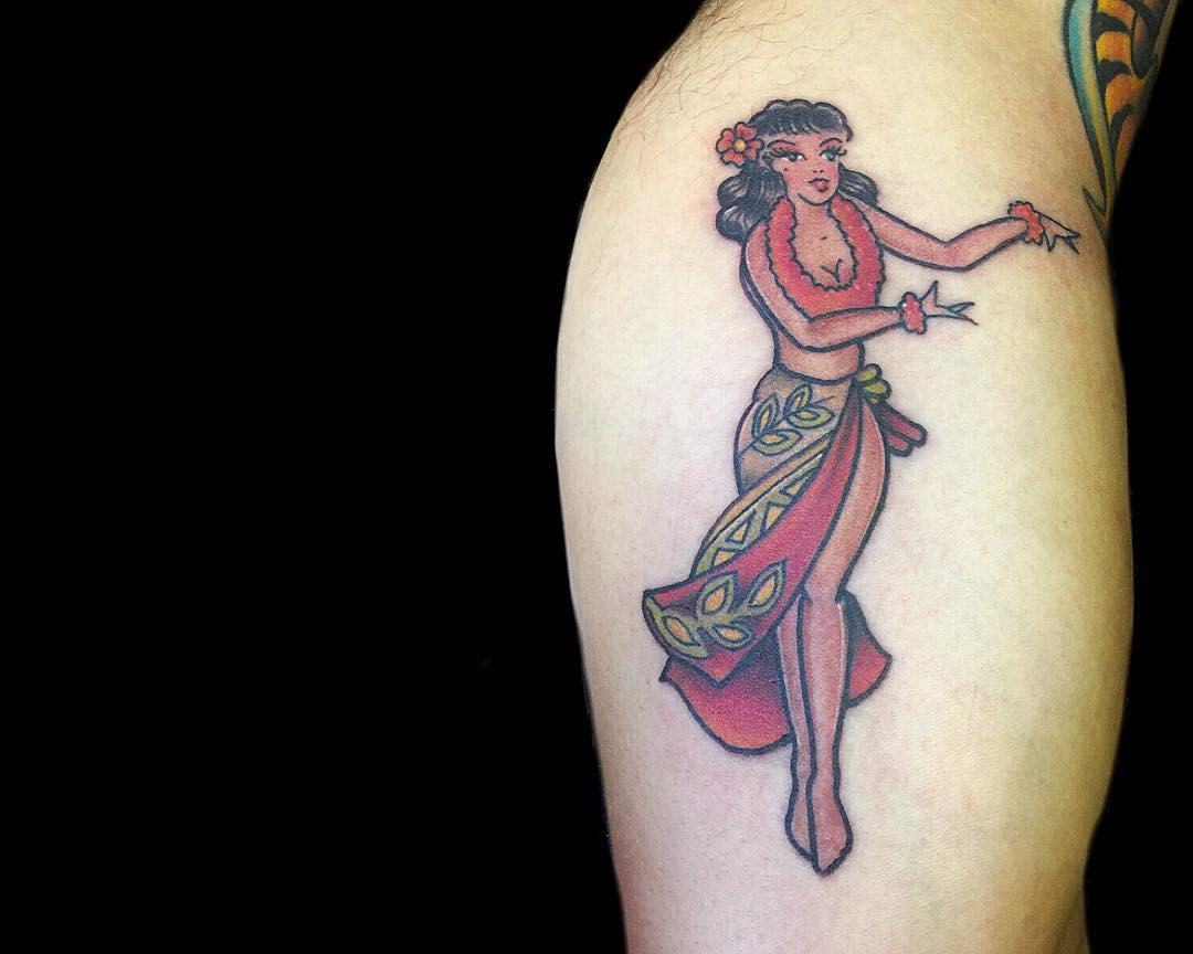 Sailor Jerry Pin Up Girl Tattoo -tahitigil