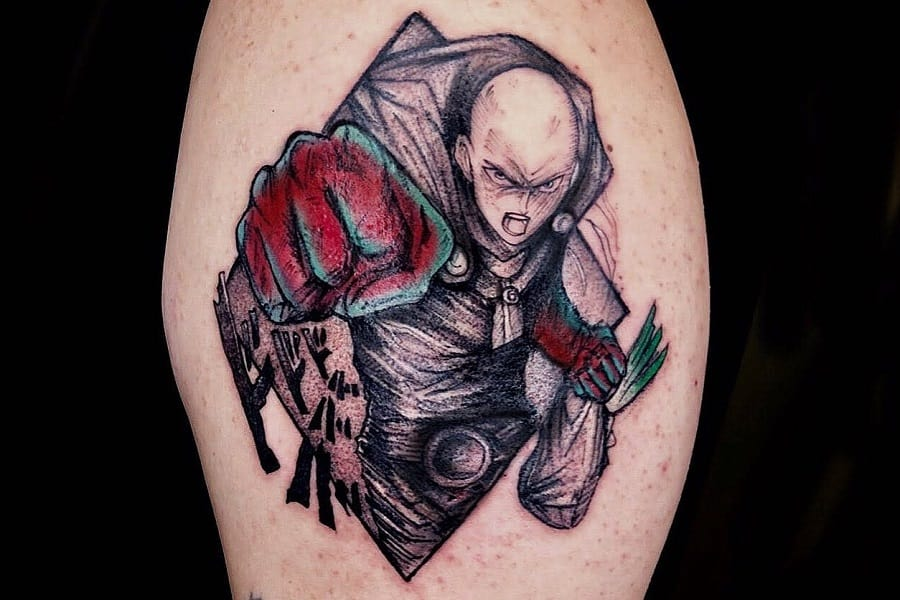 Top 77 Best One Punch Man Tattoo Ideas – [2021 Inspiration Guide]