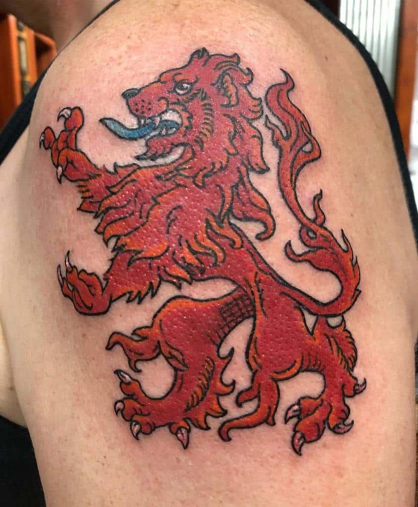 Scottish Lion Tattoo Cheryldoestattoos