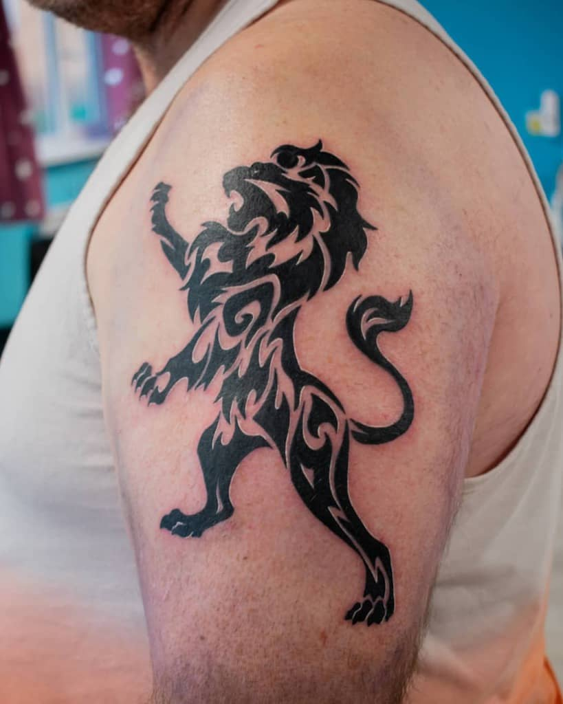 Scottish Lion Tattoo Dagmarakokocinska