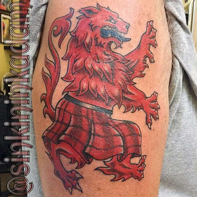 Scottish Lion Tattoo Sinkininkadam