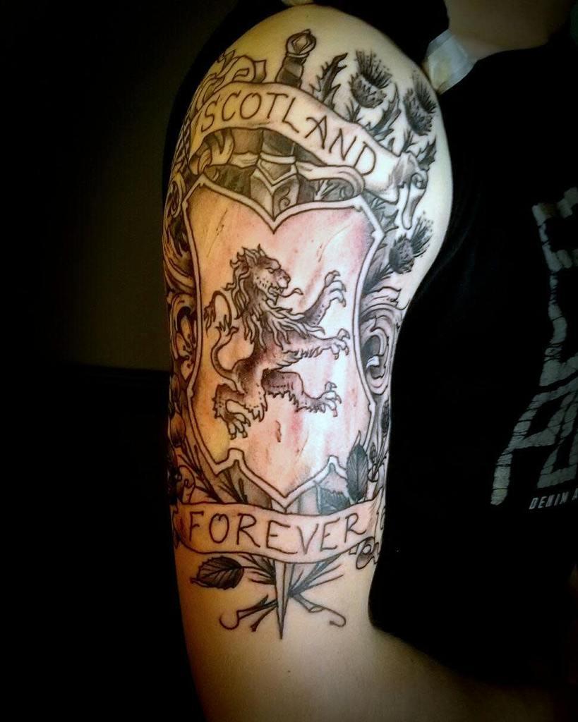 Scottish Lion Tattoo Theoldboysclubtattoo