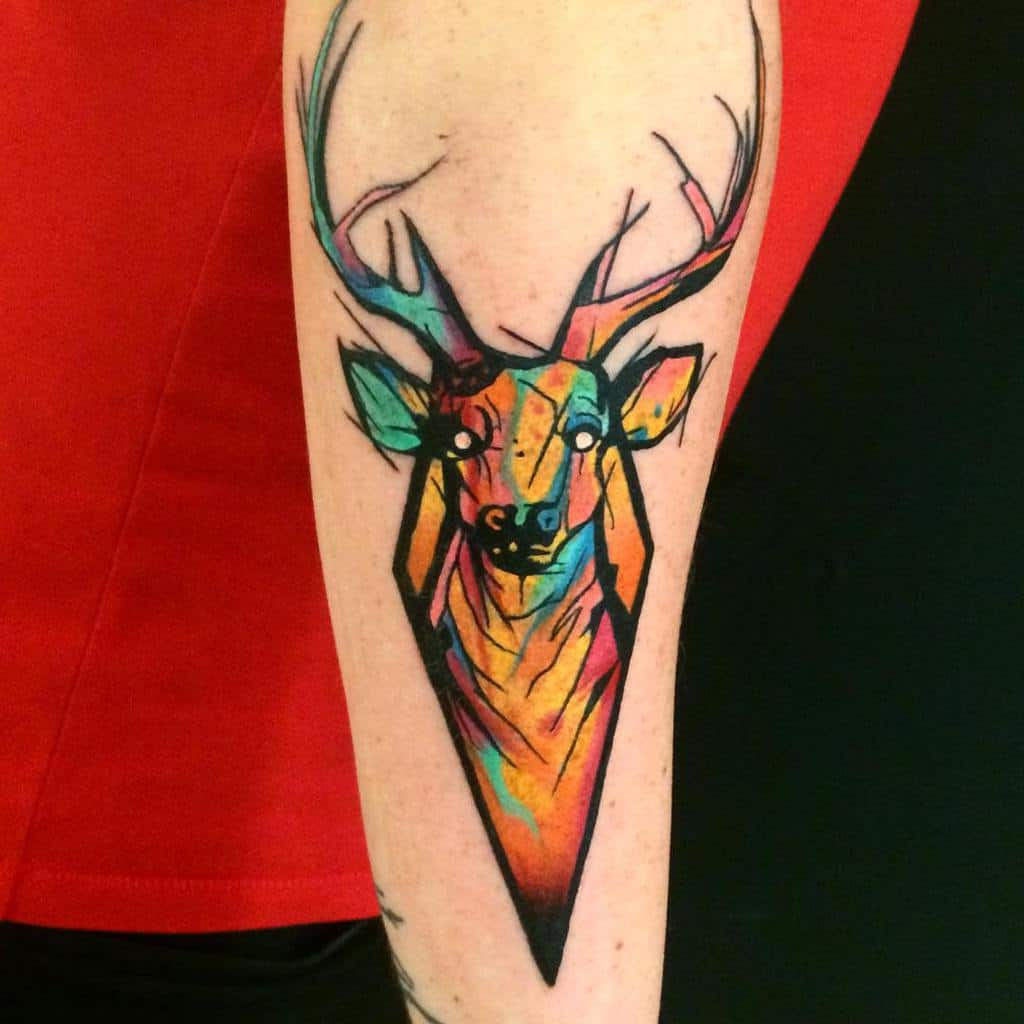 Scottish Stag Tattoo Dbishoptattoo