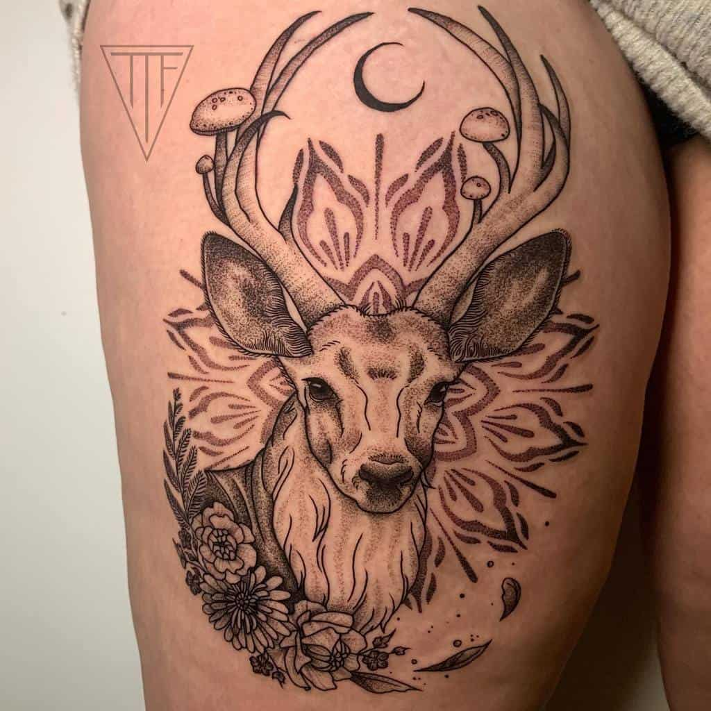Scottish Stag Tattoo Thetattooedfae