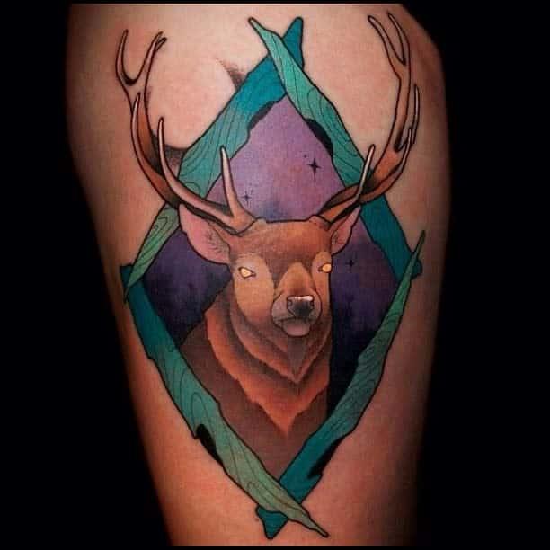 Scottish Stag Tattoo Willdixontattoo