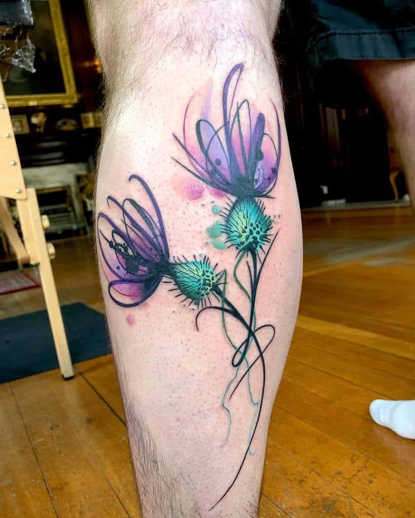 Scottish Thistle Tattoo Dbishoptattoo