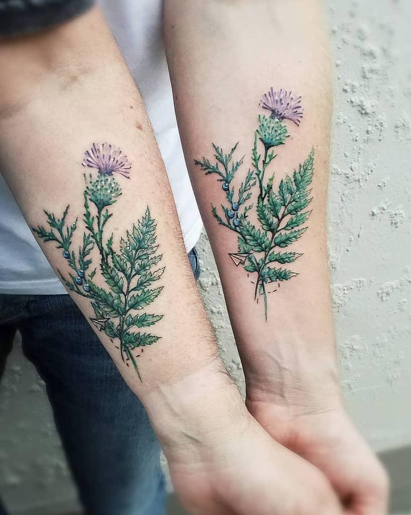 Scottish Thistle Tattoo Nicolekayetattoo