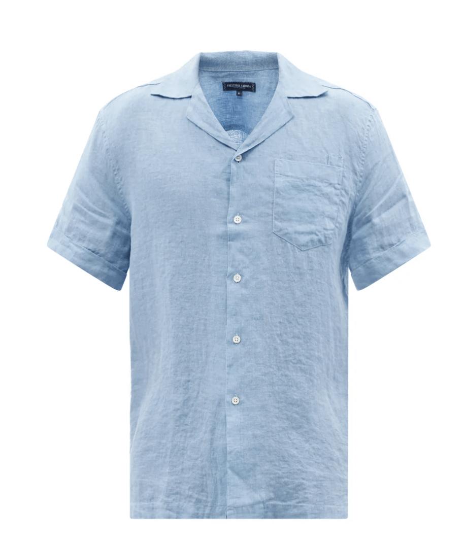 Frescobol Carioca Cuban Collar Linen Shirt