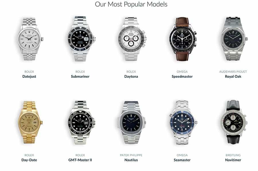 Chrono24 Luxury Watch Marketplace Popular Models