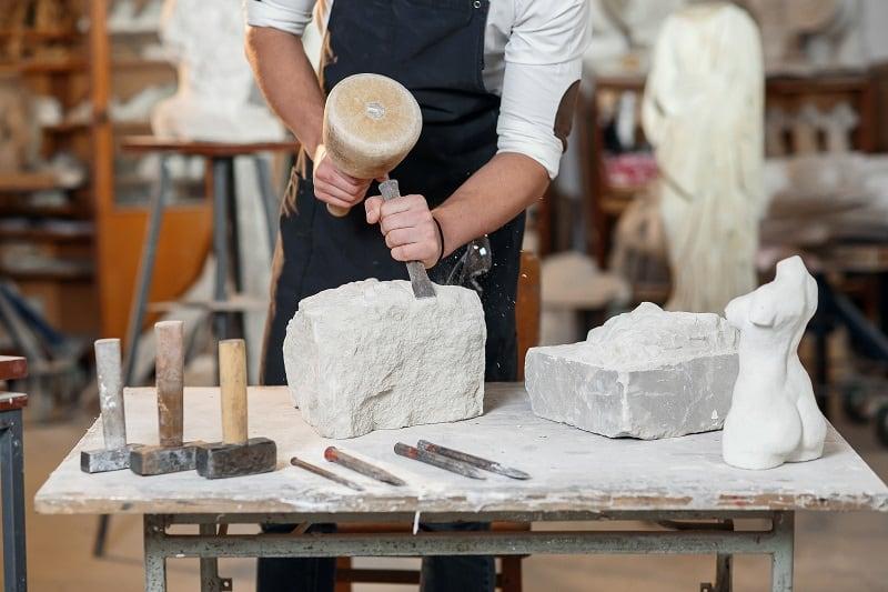 Sculpting-Stone-Hobbies-For-Men