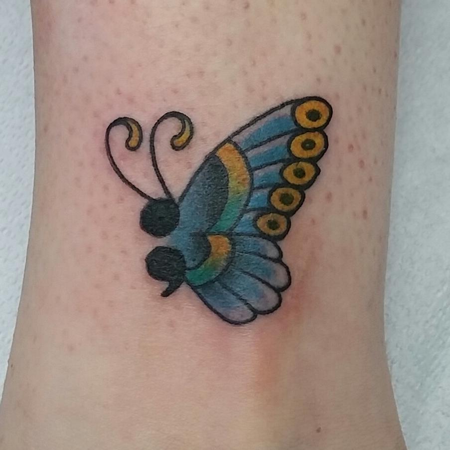 Semicolon Butterfly Ankle Tattoo fizzpop06