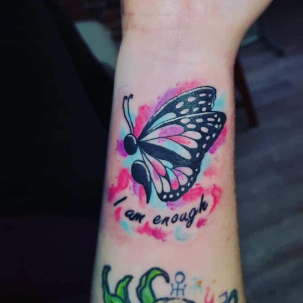 Semicolon Butterfly Tattoo lexiebunny88