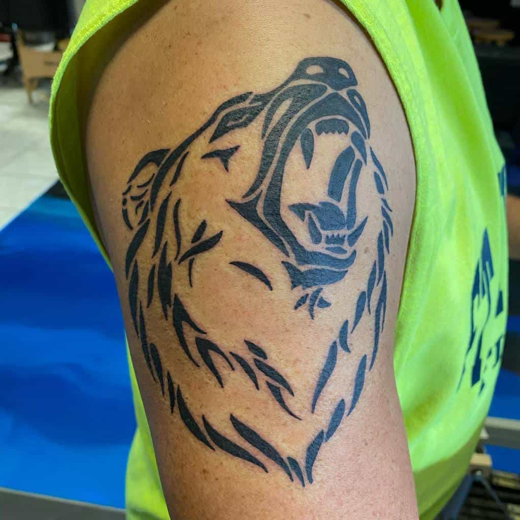 Shoulder Tribal Bear Tattoo anberlyntattoo