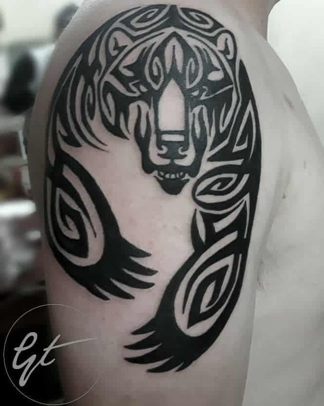 Shoulder Tribal Bear Tattoo galaharttattoo