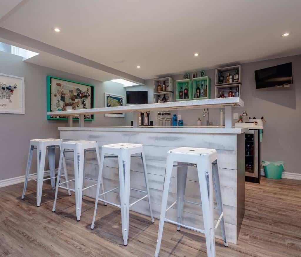 Simple Basement Bar Ideas arimakitchens