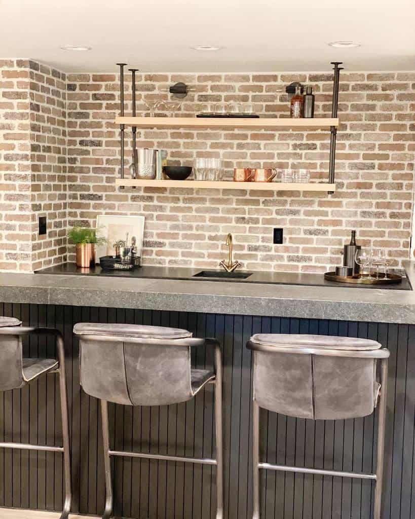 Simple Basement Bar Ideas karagriderdesign