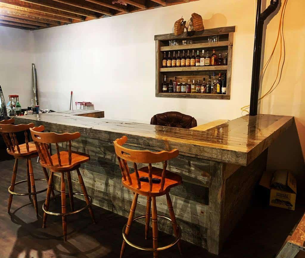 Simple Basement Bar Ideas woodtick86