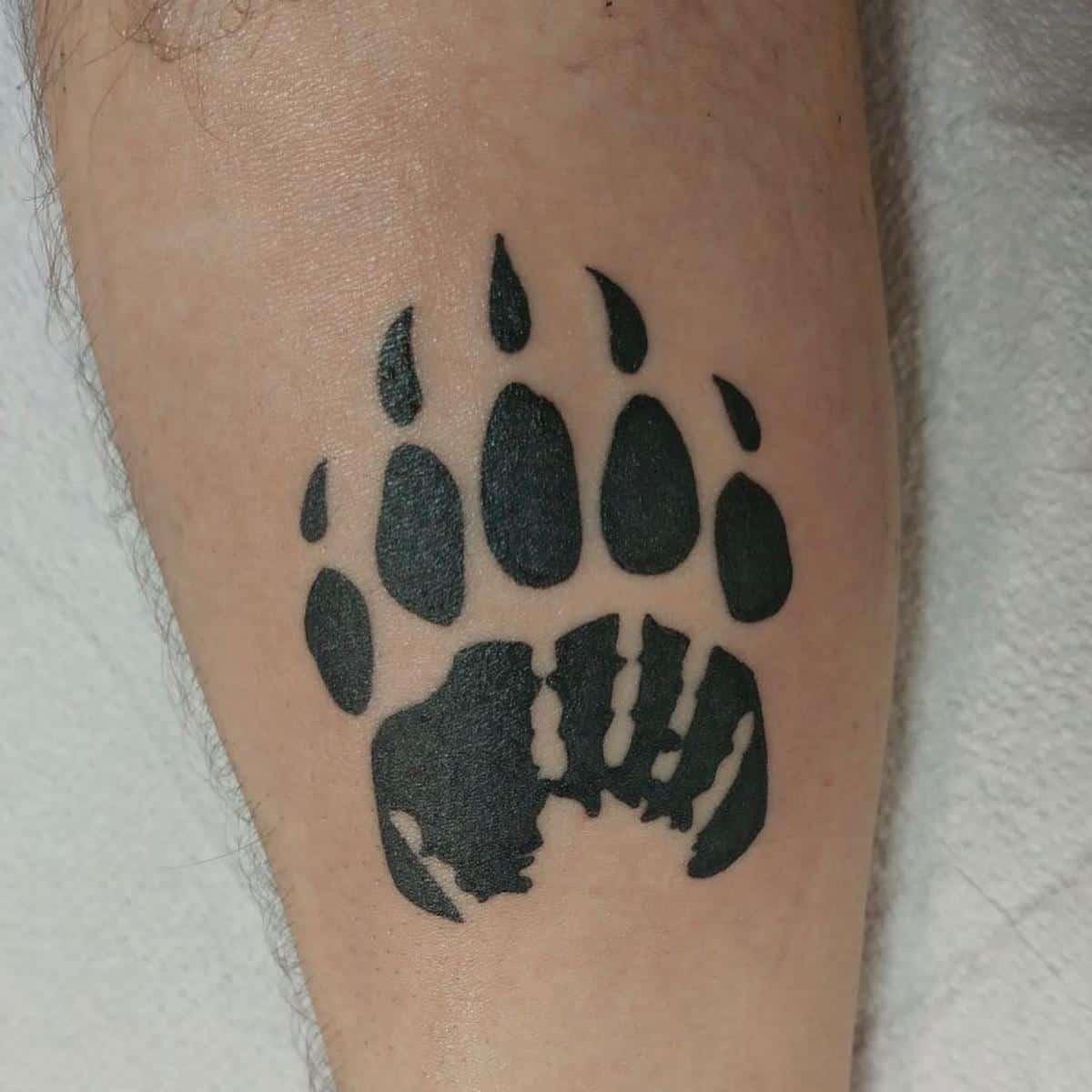 Simple Bear Paw Tattoo lebatfred