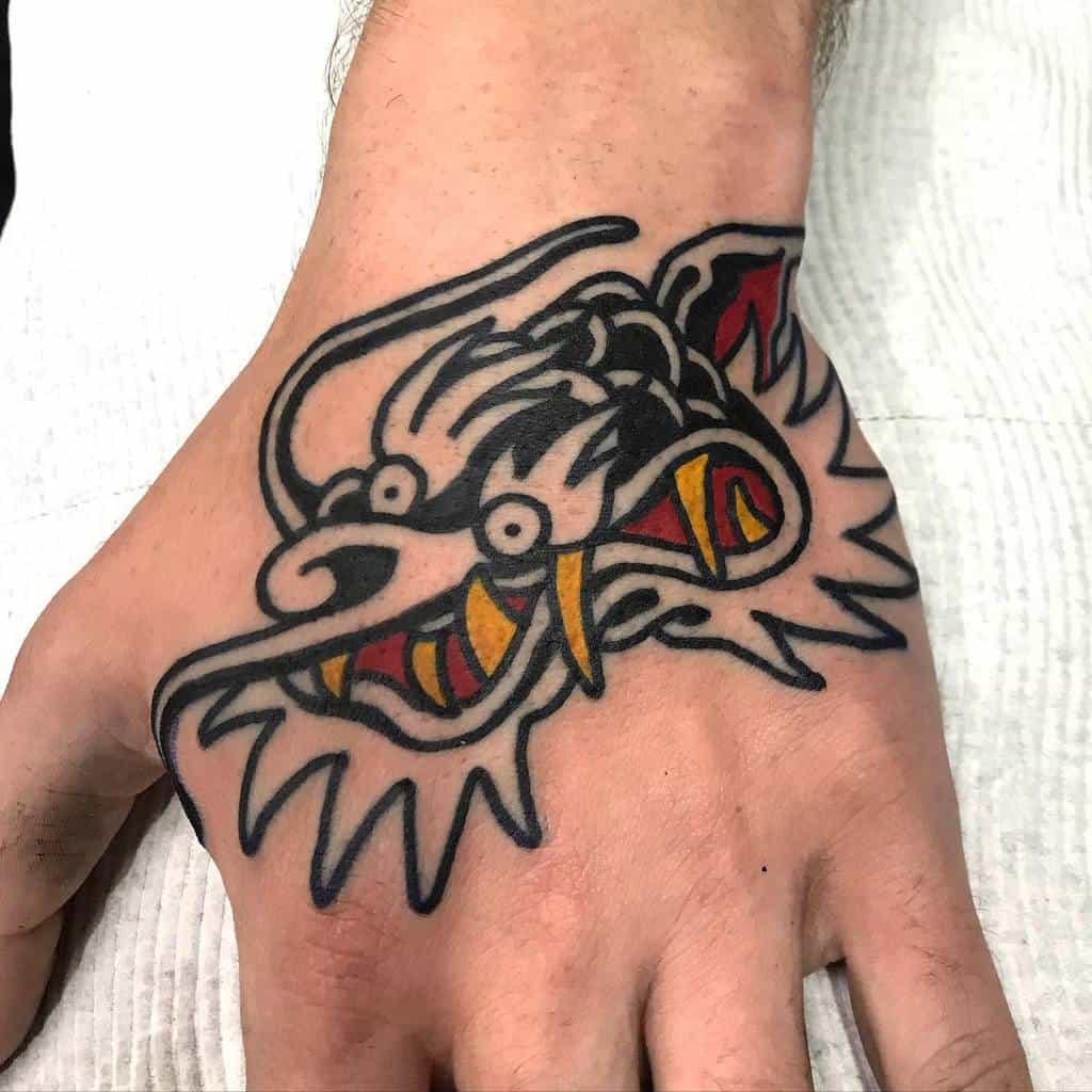 Simple Dragon Tattoo for Men camilojoya