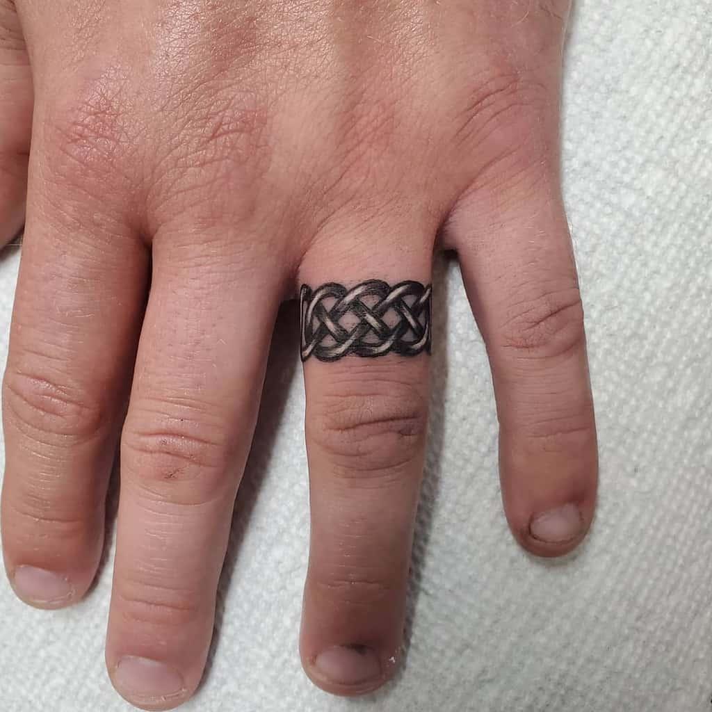 Simple Finger Tattoo for Men dark_shadows_tattoo