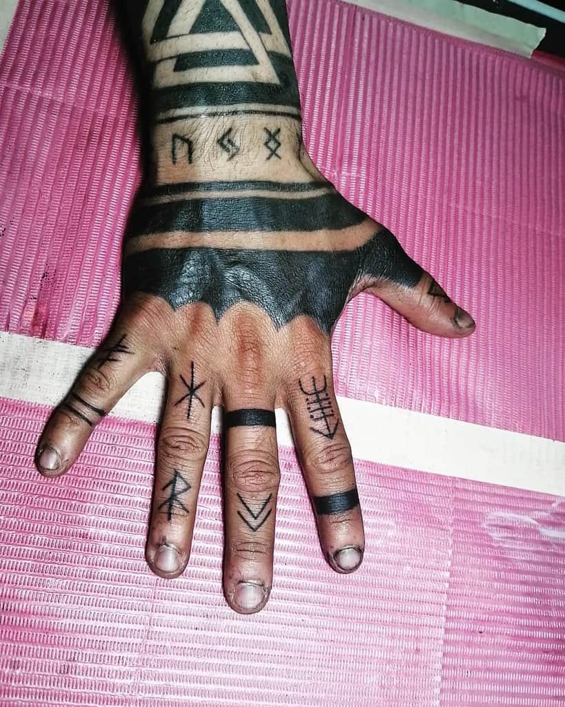 Simple Finger Tattoo for Men karen_cv_tattoo